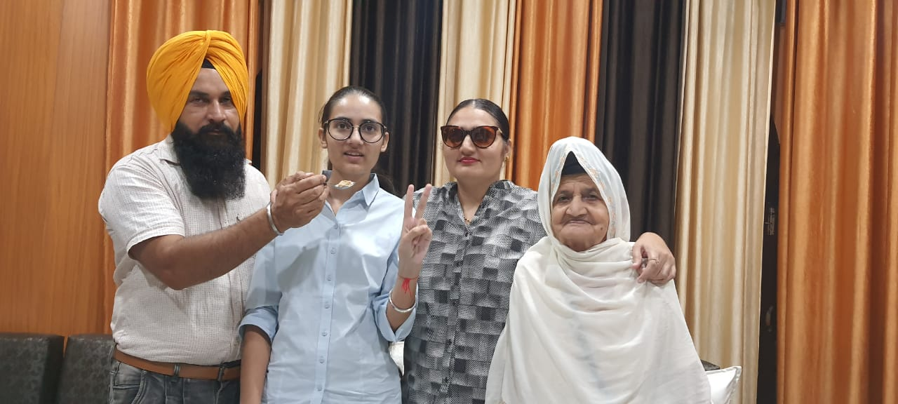 Student Stalinpreet Kaur scored 80.5 points to enhance her father's pride